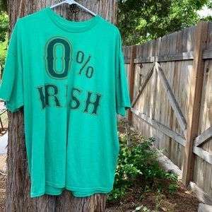 0% Irish St. Patrick's Day men T-shirt size 2X